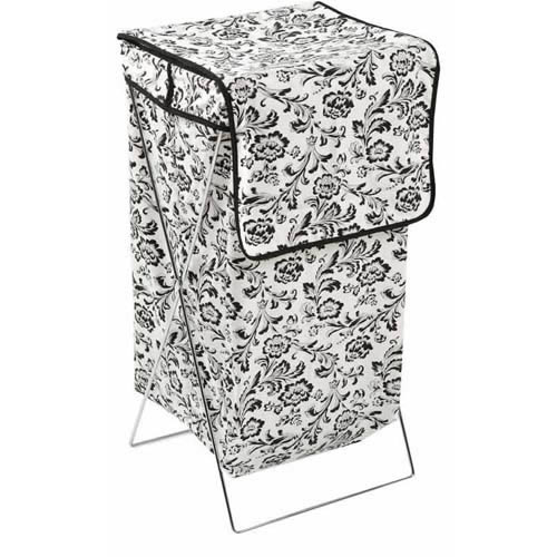 Filigree folding laundry hamper 76x36x36cm soft touch fabric