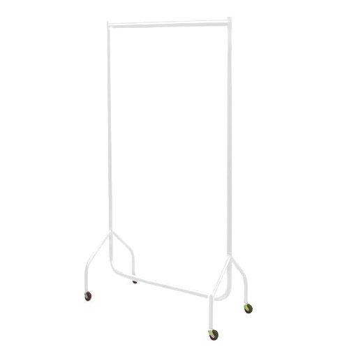 3ft White Garment Rail