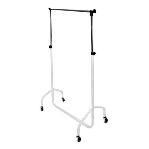 Caraselle Deluxe White & Chrome Height Adjustable 3ft Garment Rail