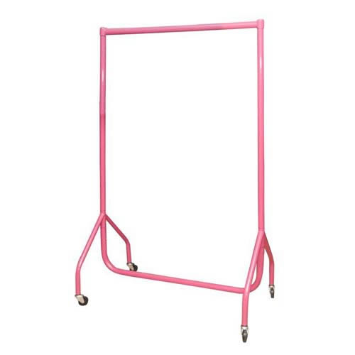 pink garment rail