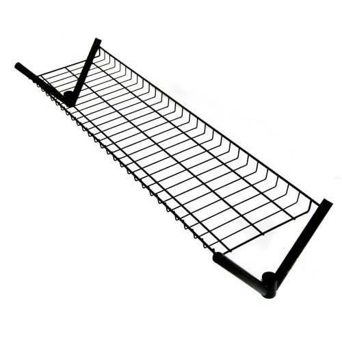 4' Superior All Black Clothes Rail