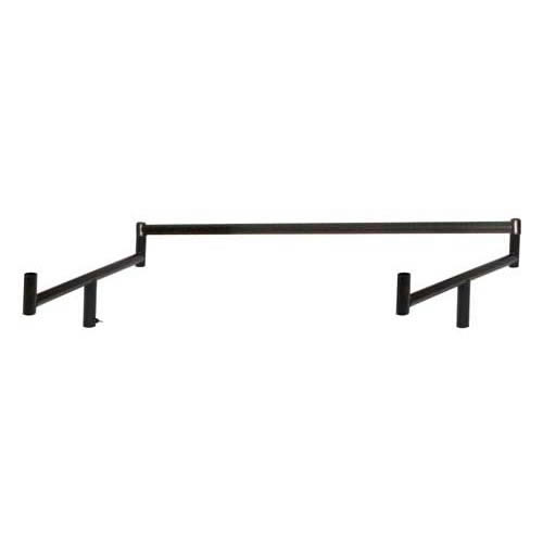 Black double top rail conversion kit includes single top rail and 2 x end brackets
