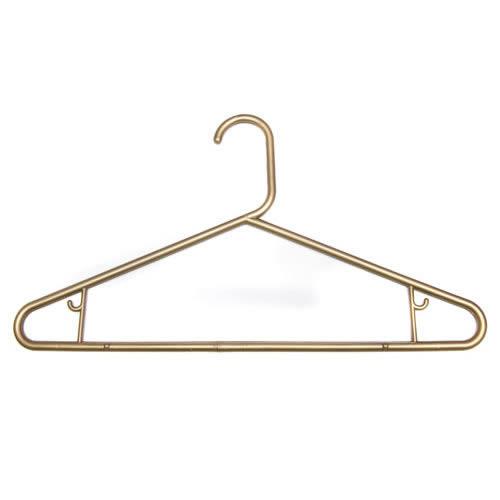Caraselle Robust Metallic Gold Polypropylene Suit Hanger 42cm wide with Skirt Hooks