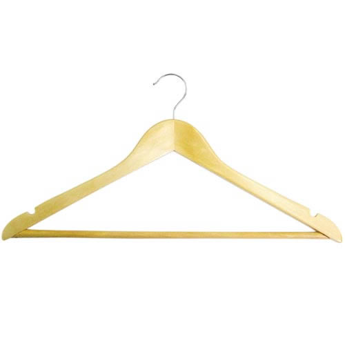 wooden suit hanger with trouser bar & shoulder notches