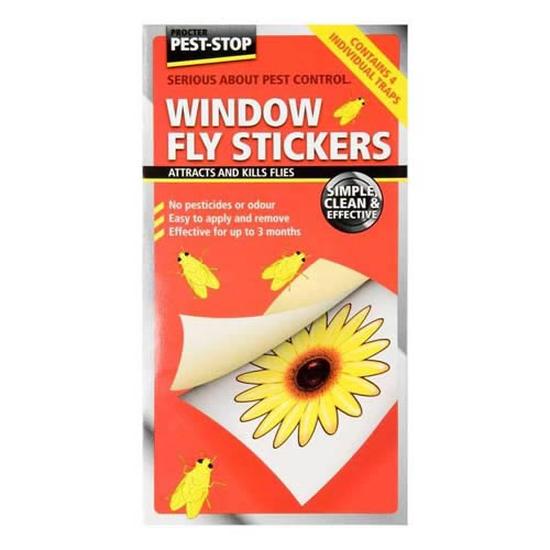 Pest Stop Window Fly Stickers
