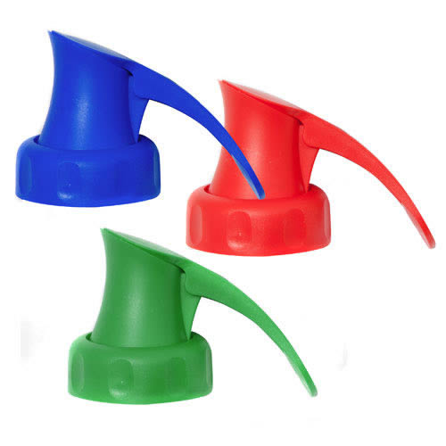 The Topster Household Pack of 3 Topster Milk Pourers Red, Green & Blue - - For PLASTIC Milk Bottles only