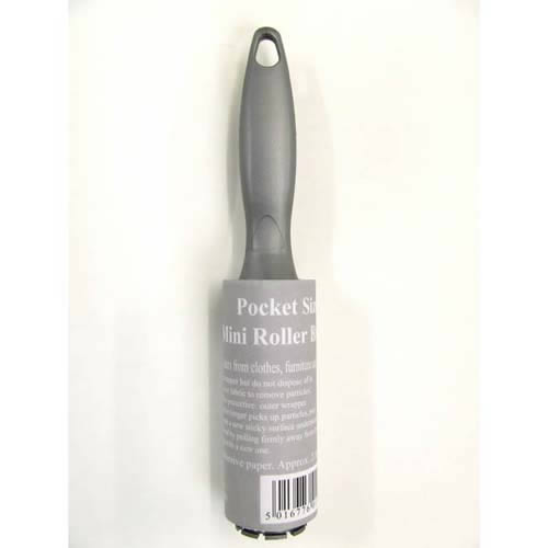 The Caraselle Mini Pocket Size Roller Brush with approximately 2.8 metres  of adhesive paper is designed to fit into most Handbags & Briefcases and is Ideal for travel