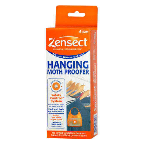 Pack of 4 Zensect Hanging Moth Proofer