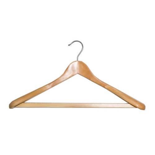 6x Shaped Suit Hanger 45cm Wide Shoulders Nonslip Bar by Caraselle
