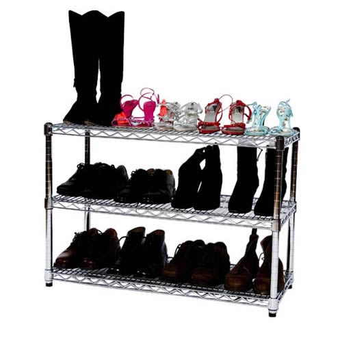 Chrome Shoe Rack