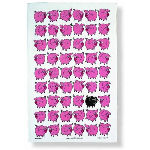 """Piggy"" Tea Towel"