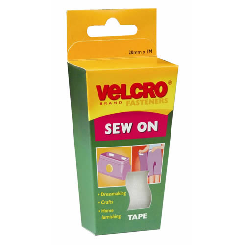 Pack of VELCRO® Brand White Sew On Tape