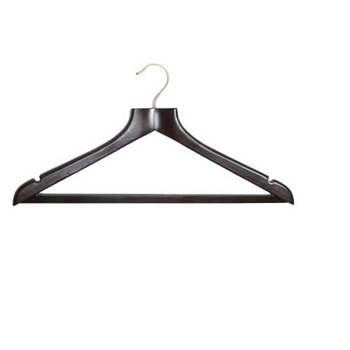 Shaped Walnut Suit Hanger