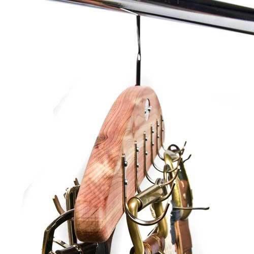 Woodlore Deluxe Hanging Belt Organizer for 24 belts