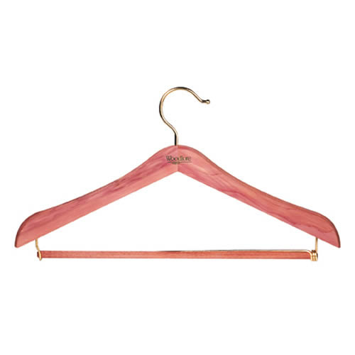 Deluxe Woodlore Standard Cedar Suit Hangers with Locking Trouser Bar